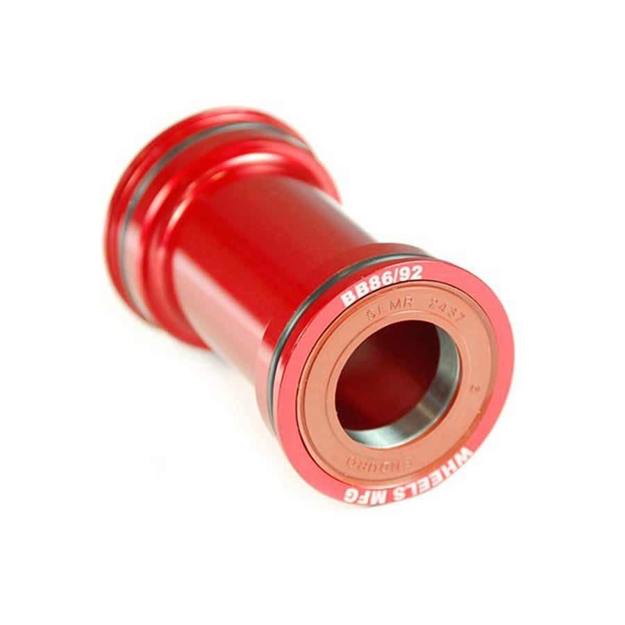 Wheels Manufacturing Wheels Manufacturing, Pressfit 86/92, Press-fit, BB Shell: 86/92mm, Dia.: 41mm, Axle: 24/22mm, ACB ABEC 5, Red, (BB86/92-SRAM10)
