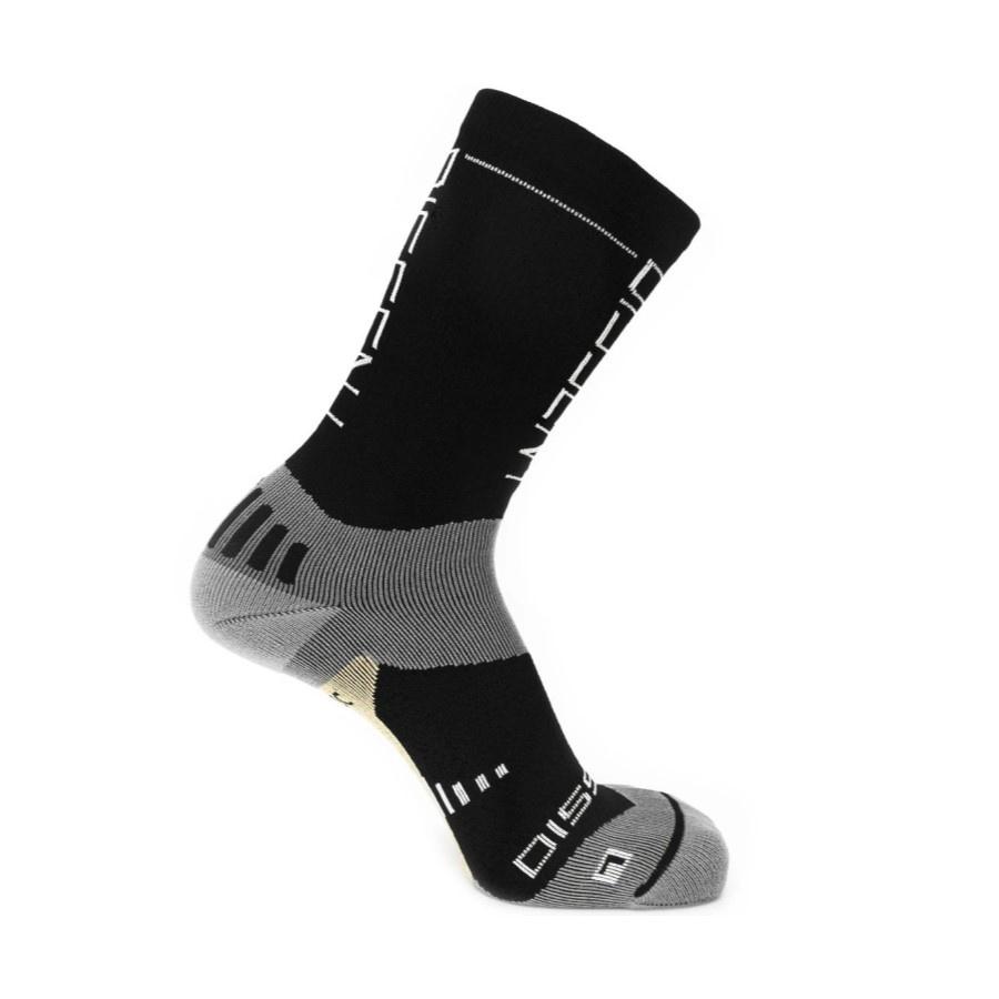 """Dissent Supercrew Nano 8"""" + Copper, Compression Socks-Black"""
