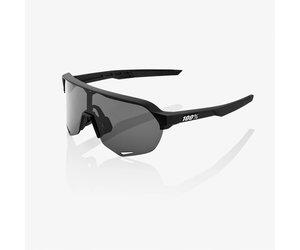 100 Percent 100 Percent S2 Sunglasses  Soft Tact Black Smoke Lens
