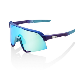 100 Percent 100 Percent SP20 S3  Matte Metallic Into Fade  Blue Topaz Multilayer Mirror Lens