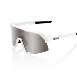 100 Percent 100 Percent S3 Matte White Hyper Silver mirror lens