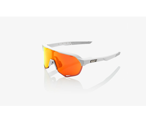100 Percent 100 Percent S2 - Soft Tact Off White - Hiper Red Multilayer Mirror Lens