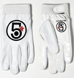 5Bling Track Glove White