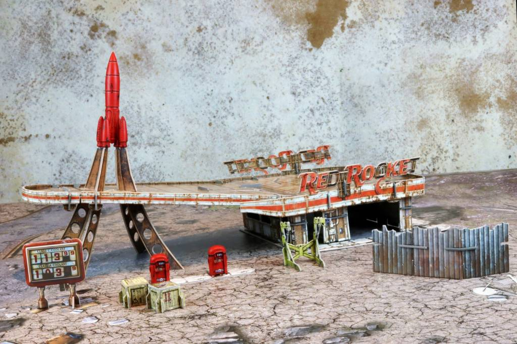 Fallout Wasteland Warfare - Red Rocket Scenic Set