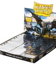 Dragon Shield 18-Pocket Binder Pages Black (50 Pack)