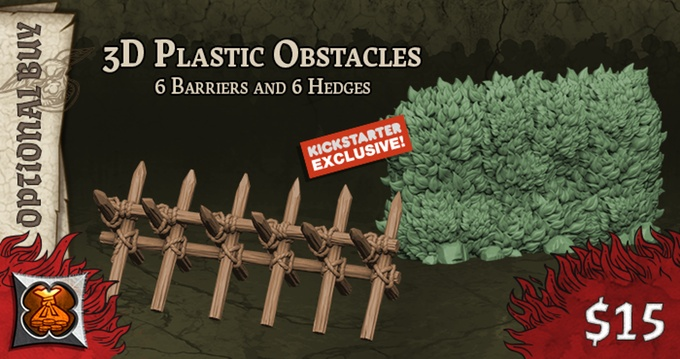 Black Plague: Green Horde KS Edition: 3D Plastic Obstacles