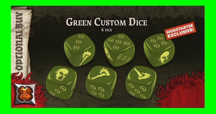 Black Plague: Green Horde KS Edition: Green Custom Dice