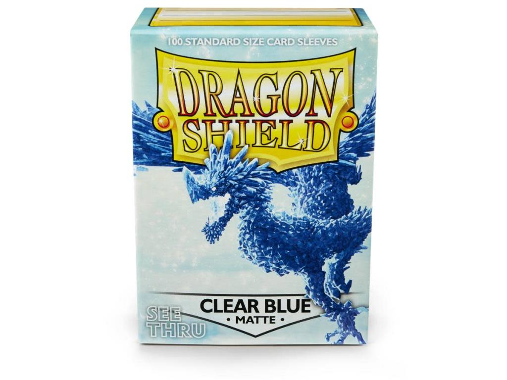 Sleeves: Dragon Shield Matte- Clear Blue