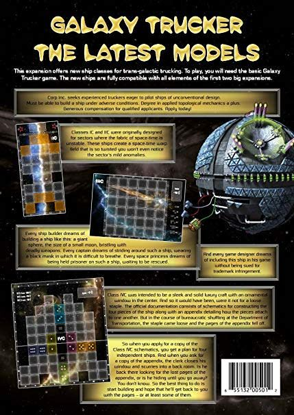 Galaxy Truckers The Latest Models Expansion
