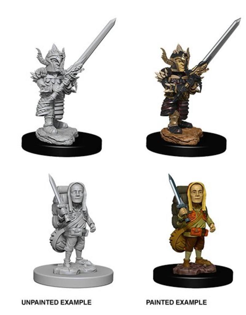 D&D Unpainted Miniatures - Male Halfling Fighter