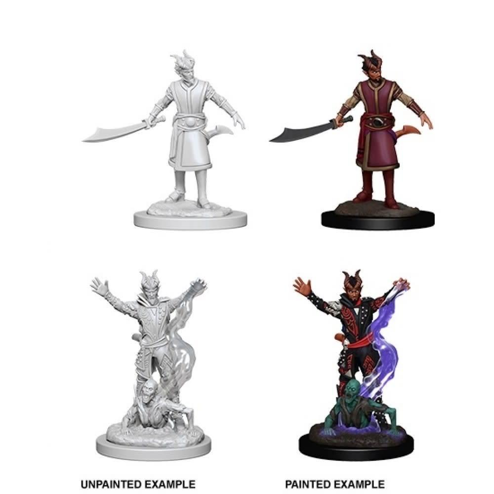 Unpainted Miniatures - Male Tiefling Warlock