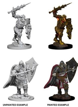 Unpainted Miniatures - Death Knight & Helmed Horror
