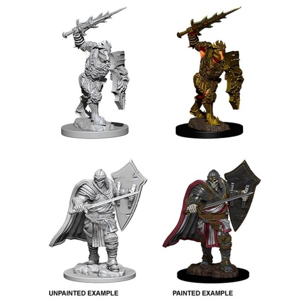 Unpainted Miniatures - Death Knight & Helmed Horror