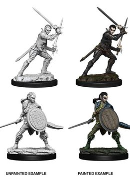 PF Unpainted Minis: Elf Female Fighter Wave 6