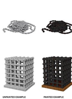 Unpainted Minis - Cage and Chains