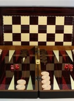 "Backgammon - 19"" Simple Wood Decoupage"