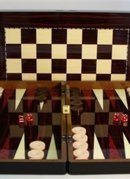 "Backgammon: 19"" Simple Wood Decoupage"