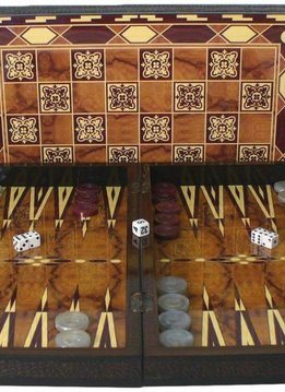 "Backgammon - 19"" Marrakesh Decoupage Wood"