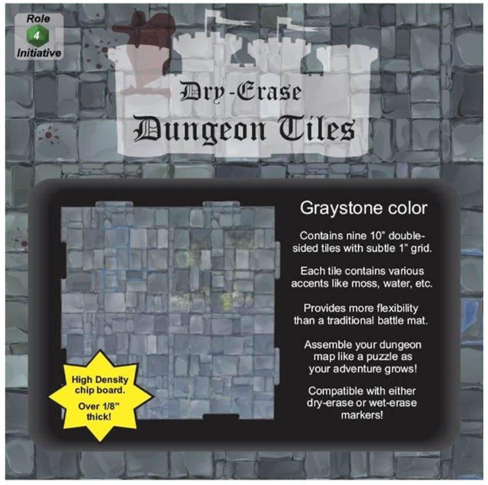 Dry Erase Dungeon Tiles-(36)-5  Interlocking Tiles