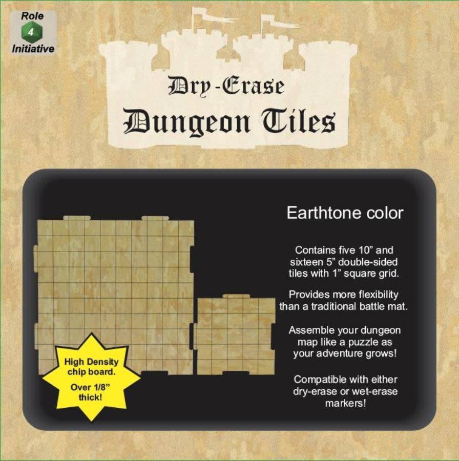 Note: Dungeon Tiles- Earthtone:(5) 10'' Et (16) 5''