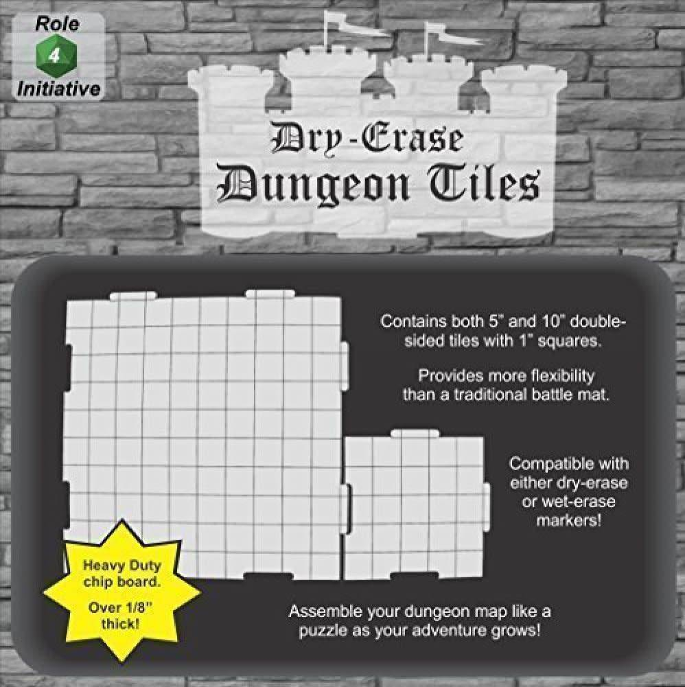 "DUNGEON TILES - EARTHTONE:(5) 10"" & (16) 5"" SQUARE"