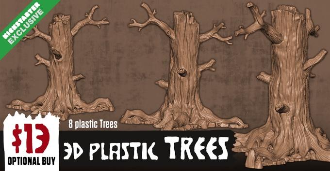 Hate KS Edition : 3D plastic Trees (MAX 4)