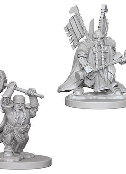 DND Unpainted Minis: Dwarf Male Paladin