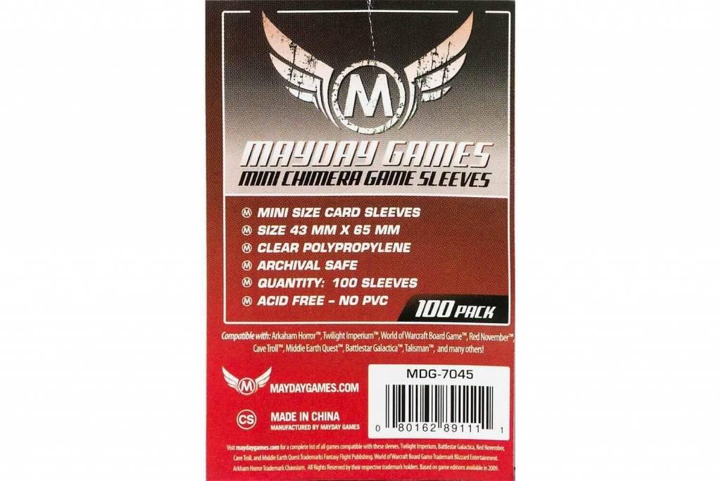 Protecteurs de cartes «mini-chimera» 43mm X 65mm - Paquet de 100