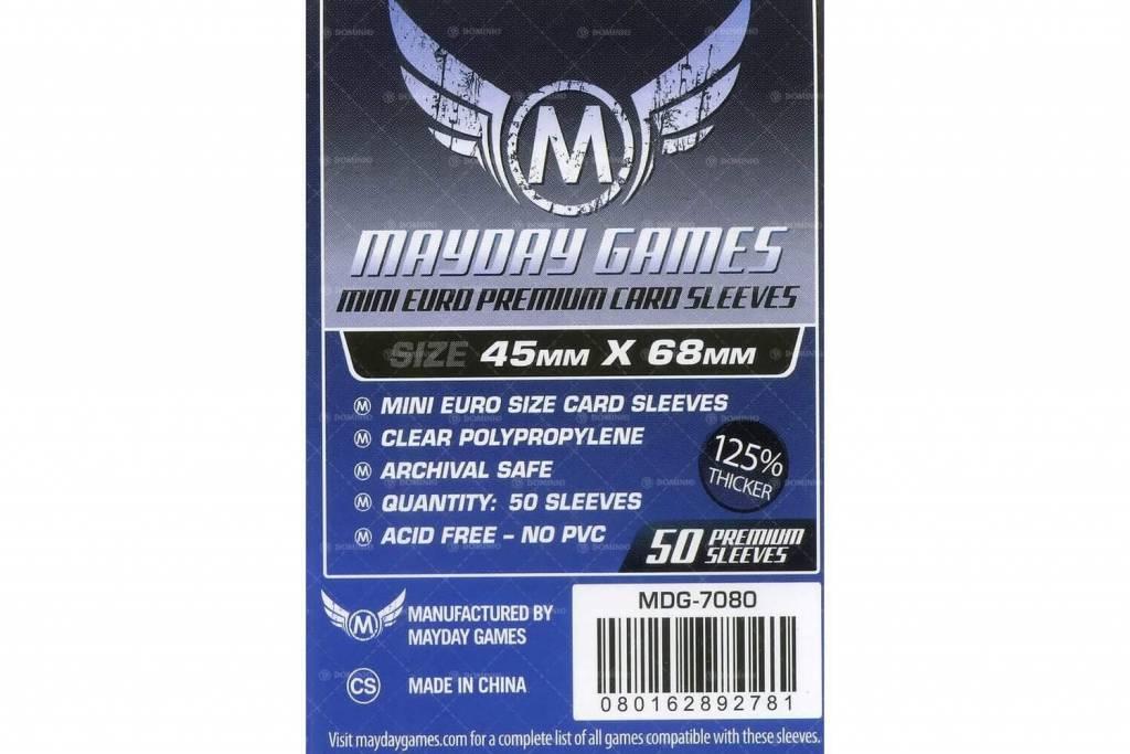Protecteurs de cartes «mini-euro» 45mm X 68mm Deluxe - Paquet de 50