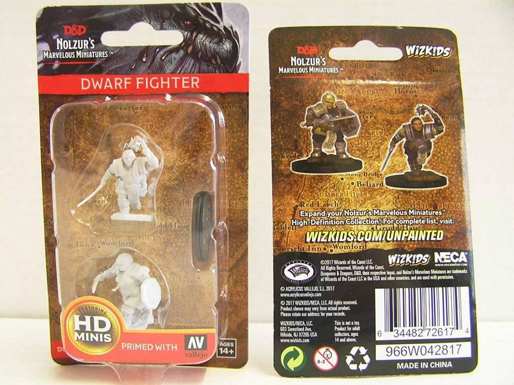D&D Unpainted Minis: Dwarf Male Cleric