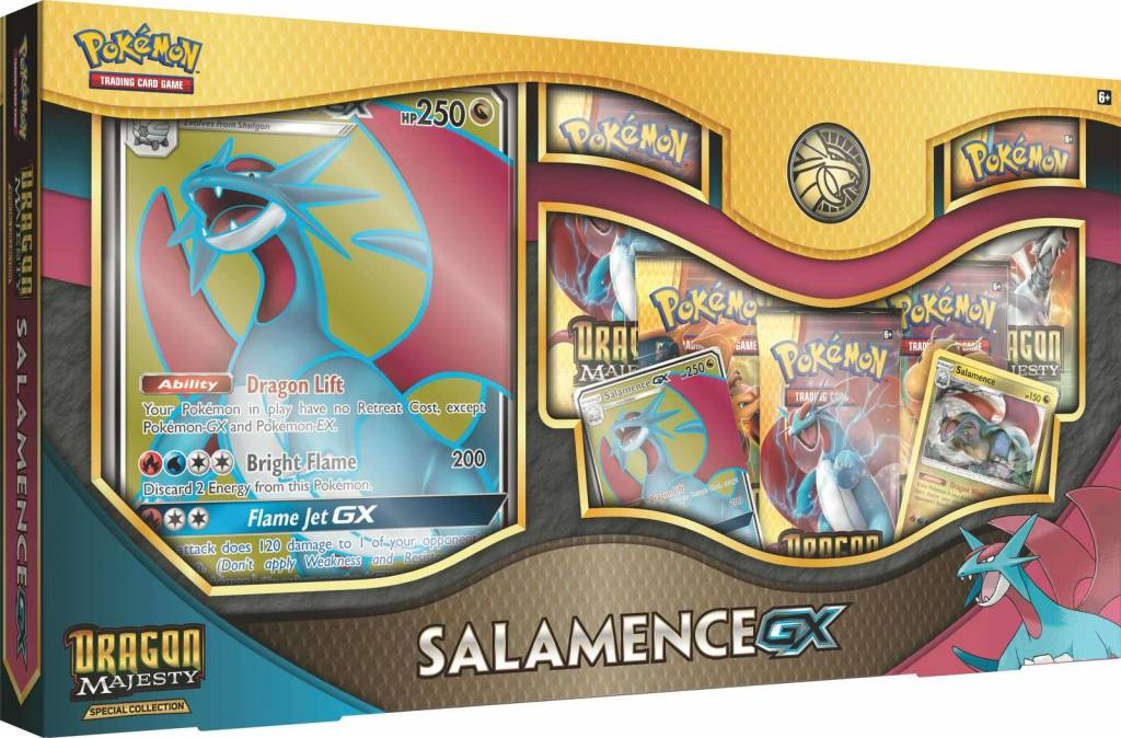 Pokemon Dragon Majesty Salamence GX Box