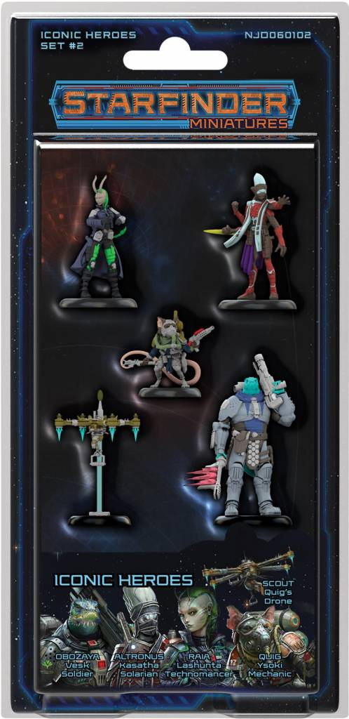 Starfinder Minis Iconic Heroes Set 2