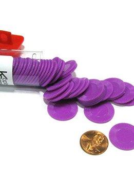 Mini Poker Chip Tube - Purple (50)