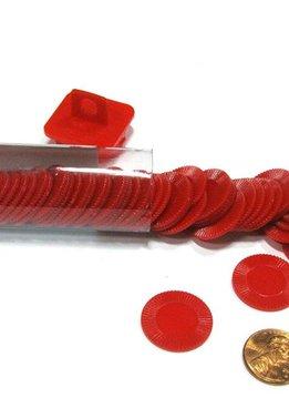 Mini Poker Chip Tube - Red (50)