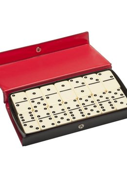 Dominoes Club Size Double 6 in Vinyl Case