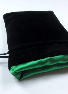 3x4 Velvet Dice Bag Black/Green