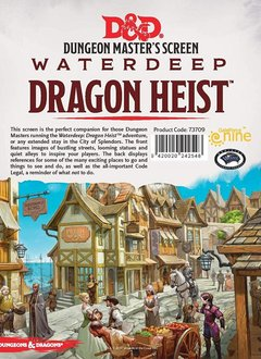 D&D DM Screen Waterdeep Dragon Heist