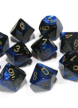 26235 Gemini Black-Blue w/gold 10d10