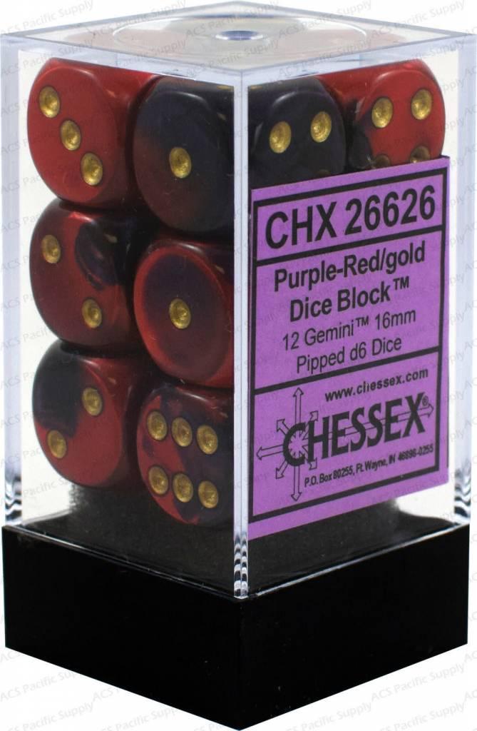 26626 gemini 12d6 purple-red/Gold