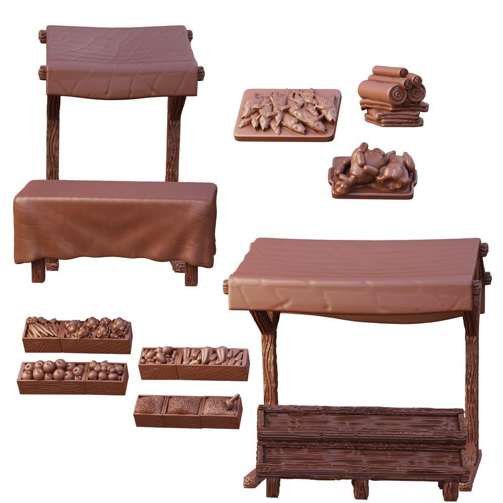 Terrain Crate - Market Stalls