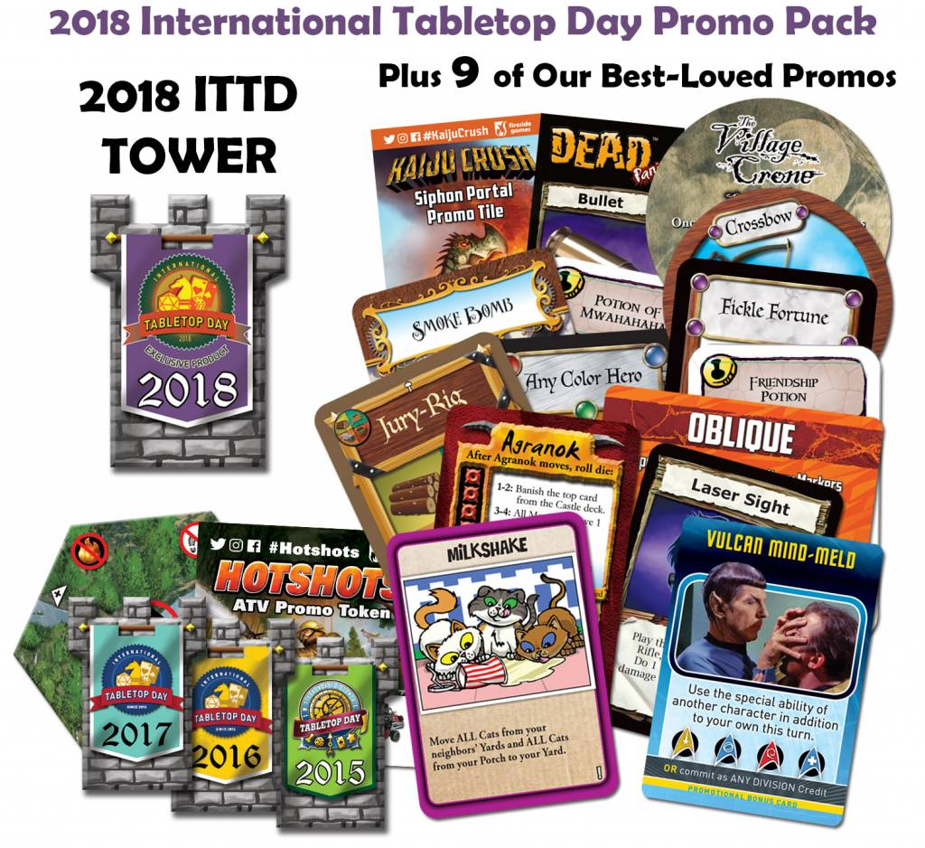Tabletop Day 2018 - Fireside Games Promo Pack