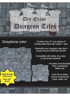 """Dungeon Tiles - Graystone 10"""" & 5"""" Square"""