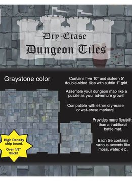 "Dungeon Tiles - Graystone 10"" & 5"" Square"