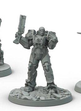 Fallout Brotherhood of Steel Captain Cade/Danse Set