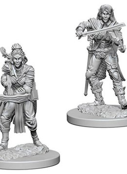 PF Unpainted Minis: Elf Female Bard