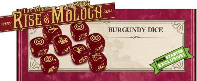 The World of SMOG: Rise of Moloch KS: Burgundy Dice