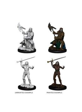 Female Half-Orc Fighter D&D Unpainted Mini