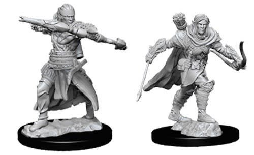 Male Half-Elf Ranger D&D Unpainted Mini
