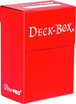Deck Box Solid Red