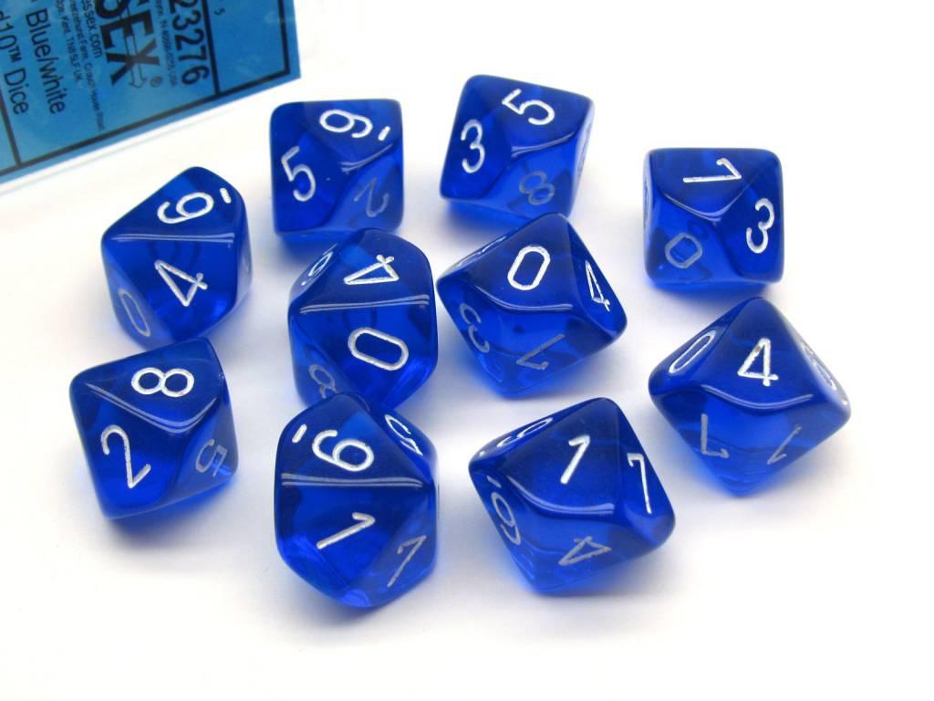 23276 Translucent 10d10 Blue/White